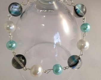 Turquoise rhinstone bracelet, Mother of the bride, Bride to be, Bridesmaid gift
