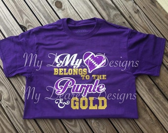 My Heart Belongs To Shirt / Football Shirt / Football Lover / Custom Shirt / Football Mom Shirt / Football Sister Shirt