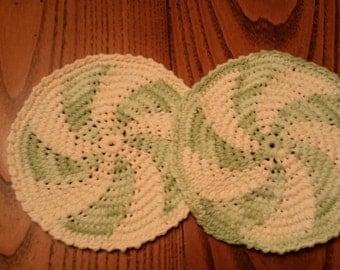 Crochet Pot Holder,Crochet Hot Pad,Cotton,Set of 2,Pot Holders,Kitchen, Kitchen Decor