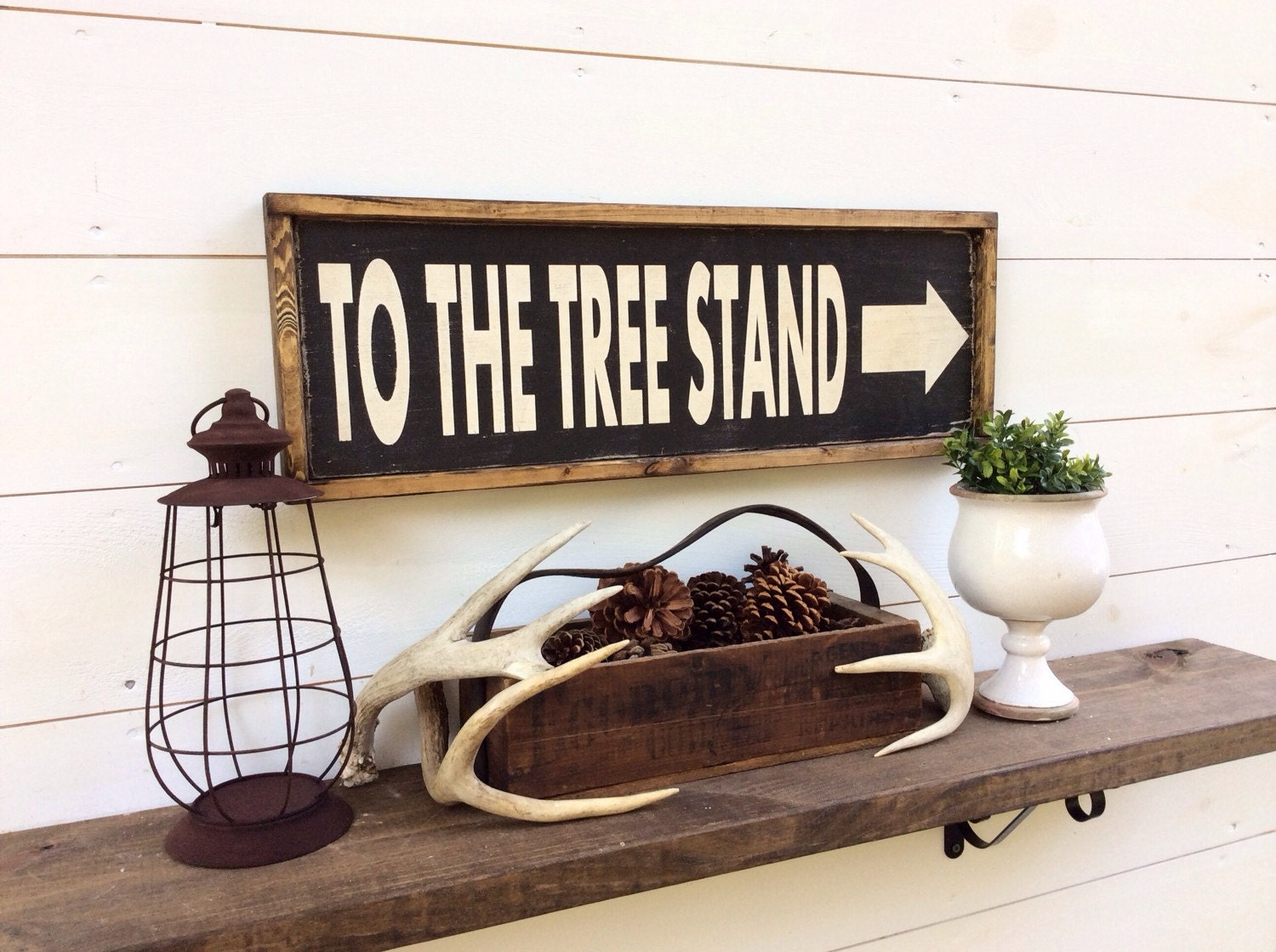 to the tree stand sign hunting sign cabin sign lodge sign man