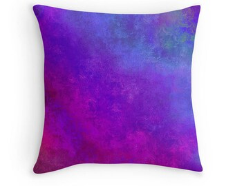 Colorful Toss Pillow, Multicolor Pillow, Jewel Tones Pillow, Blue Purple Pink Pillow, Purple Pillow, Multicolor Bedding, Purple Blue Bedding