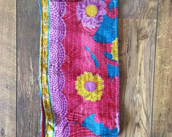 Kantha burp cloth handmade upcycled