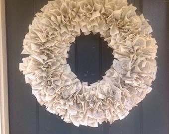 """Hymnal wreath 28"""""""