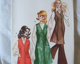 Mc Call's Kwik Sew Ladies Vest And Jumper Vintage Pattern Sizes 6 - 10 Uncut