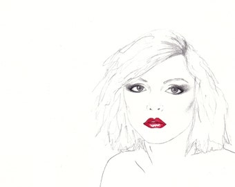 A4 Debbie Harry Illustration Print