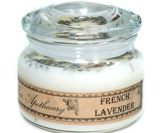 10oz French Lavender Double Wick Soy Candle in Glass Jar w/ lid by Wax Apothecary