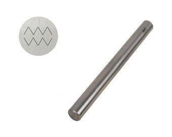 5mm Traditional T-28 Double ZigZag Triangular Line Shaped Stamp Tool for Stamping and Marking Jewelry and Metals - PUN-102.28