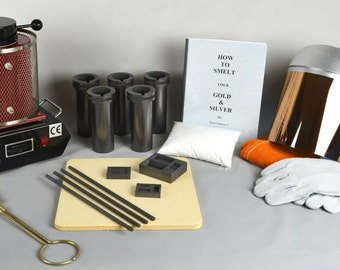 1 Kg Deluxe Gold Melting Electric Furnace Kit to Melt Gold, Silver, Precious Metals Cast and Pour your own Ingot Bars! KIT-0047
