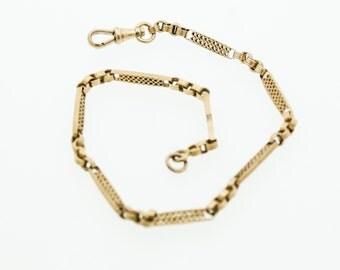 9ct Gold Fancy Albert Bracelet
