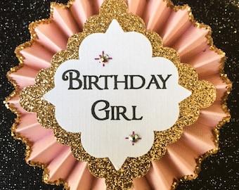Birthday Pin..Free Customization..Birthday Button..Birthday Girl