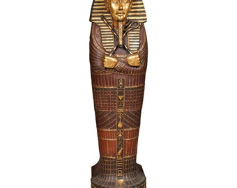 Egyptian Mummy Sarcophagus Style CD Cabinet