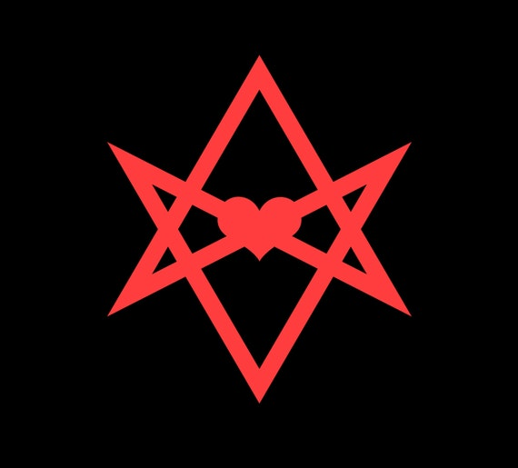 Unicursal Hexagram Occult Stickers Abbey Of By Crassandsass