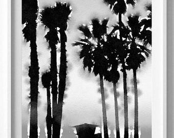 Santa Monica Print,Painting,Watercolor,Semi Abstract,Pic no 94
