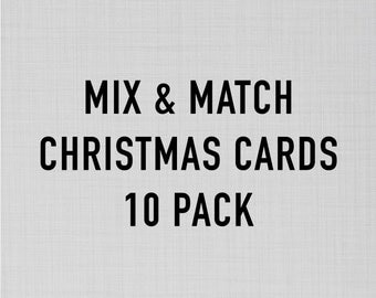 Mix and Match Christmas Card Pack   Funny Christmas Cards