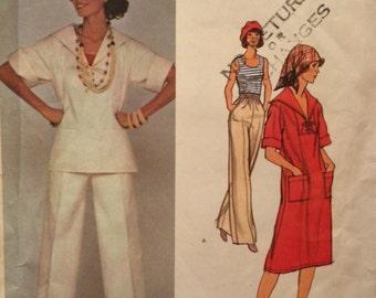 Vogue Paris Original Nautical Style Dress Pants and Top Pattern 1248 by Yves Saint Laurent