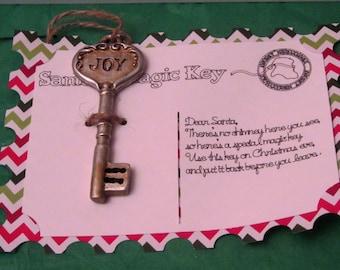 Santa's Key, Santa's Magic Key, Santa Key, Santa Postcard, Santa Key Ornament, Magic Key, Santa Key, Santa Claus Key, Skeleton Key