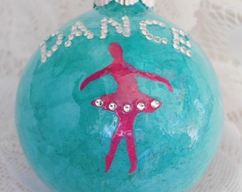 Teal Dance Ornament, Dance Ornament, Ballet Ornament, Ballerina Ornament, Dancer Ornament, Dance Teacher Ornament, Dance Coach, Dance Gift