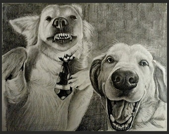 Custom pencil drawing from your photo. Free shipping. Satisfaction guaranteed. If you don't like it, you don't pay!