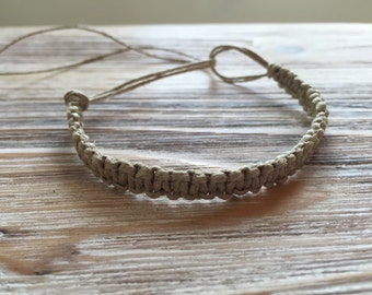Natural Hemp Bracelet/Anklet