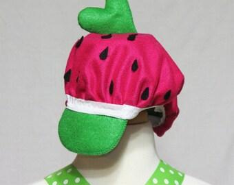 Strawberry shorcake hat/ strawberry hat