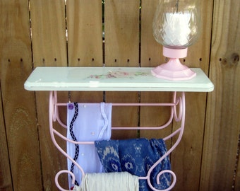 Distressed White Wood Shelf Etsy