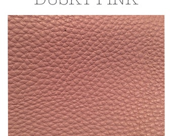 Dusky pink leatherette faux leather a4