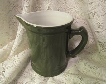 Vintage Hall China Green Water Pitcher