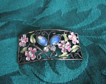 Metal Butterfly and Flowers, Jewery Parts, Destash Jewelry and Craft Supply