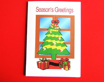 Season's Greetings Guyanese Christmas card. Hand Embroidered greeting card.