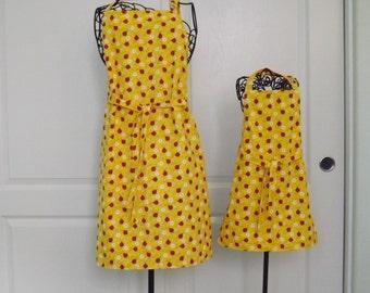 Mommy & Me Apron Set, Petite, Ladybugs