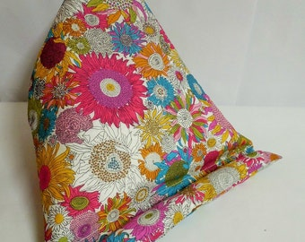 Large Tablet bean bag stand. ipad, kindle, tablet. Liberty of London Susanna cotton fabric.