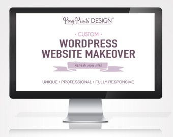 WordPress Website Makeover - Photographer Website - Website Design - Wordpress Theme - Website Template