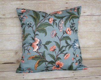 blue floral pillow slipcover