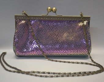 Clutch bag, make up case,Genuine Purple Prism coin purse (Free Shipping!)