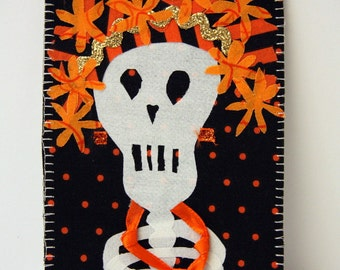 Girly Skelly w/ Necklace Postcard