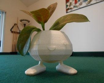 Oddish Planter, Cuttest Gift, 3D Printed Planter, cute, monster, geekery, Home & Garden