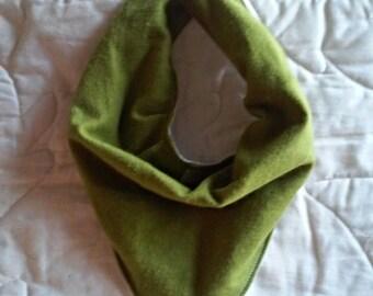 Green bandana bib , drool bib , baby shower gift