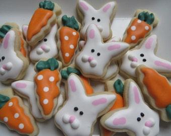 Mini bunnies and carrots