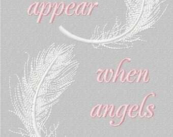 Angel Feathers Appear Machine Embroidery Design Pattern for 5x7 hoop by Titania Creations. Instant Download