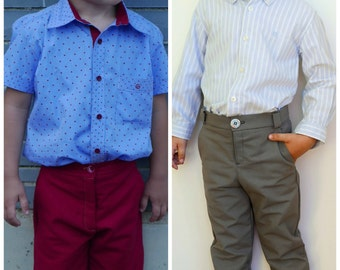 Chinos Pants and Shorts PDF Boy Pattern 2 3 4 5 6 7 years, Toddler Pants Pattern, Shorts Pattern, chino pants Pattern, Kid Shorts Pattern
