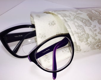 Shabby Glasses Case, Double Eyeglasses Case, Sunglasses Case, Double Eyeglass Pouch