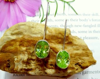 Bright Green Dangle Earrings
