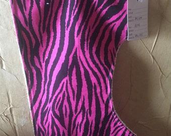 Handmade Pink zebra burp cloth!