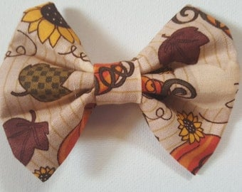 Autumn Ready - Large Hair Bow
