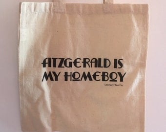 F. Scott Fitzgerald 'Fitzgerald is my Homeboy' Calico Tote