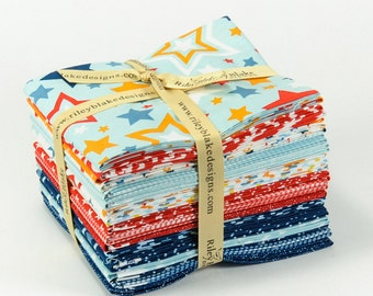 Lucky Star 19 piece Fat Quarter Bundle by Zoe Pearn for Riley Blake - FQ-4830-19