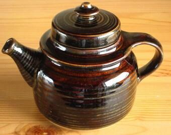 Vintage Arabia Teapot Mahonki Ulla Procope for Finland Kaarna Series 1960s Mid Century Scandinavian Design Finnish Pottery