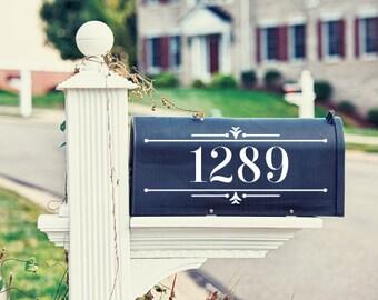 Modern Mailbox Decal / Address Decal / Mailbox Sticker / Custom Decal / Style 2