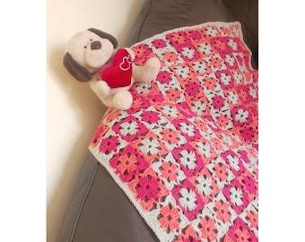 Crochet Baby Blanket, Granny Square Baby Blanket, Granny Square Afghan, Crochet blanket