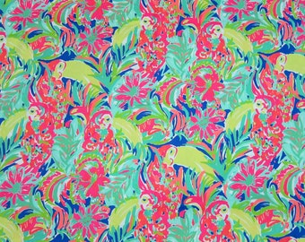"1 Yard 36"" x 56"" Lilly Pulitzer 2016 Fabric "" Casa Banana "" 1 Yard 36"" x 56"""